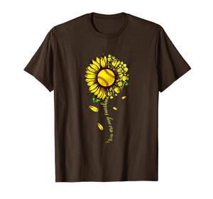 Funny shirts V-neck Tank top Hoodie sweatshirt usa uk au ca gifts for You Are My Sunshine Sunflower Softball T-Shirt 2598819