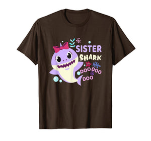 Sister Shark Shirt Doo Doo Doo Matching Family Pajamas