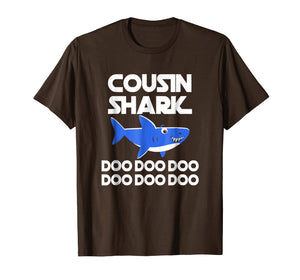 Funny shirts V-neck Tank top Hoodie sweatshirt usa uk au ca gifts for Cousin Shark Doo Doo Doo T-Shirt | Matching Family Shirt 1633846