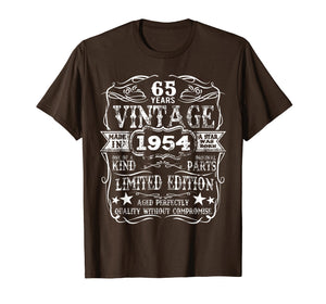 Funny shirts V-neck Tank top Hoodie sweatshirt usa uk au ca gifts for Made In 1954 65 Years Old Vintage 65th Birthday Gift T-Shirt 1149197