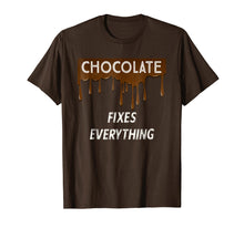 Laden Sie das Bild in den Galerie-Viewer, Funny shirts V-neck Tank top Hoodie sweatshirt usa uk au ca gifts for CHOCOLATE FIXES EVERYTHING - Chocolate Lovers T-Shirt 1508337