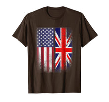 Laden Sie das Bild in den Galerie-Viewer, Funny shirts V-neck Tank top Hoodie sweatshirt usa uk au ca gifts for British American Flag T-shirt Great Britain Union Jack Uk 1175143