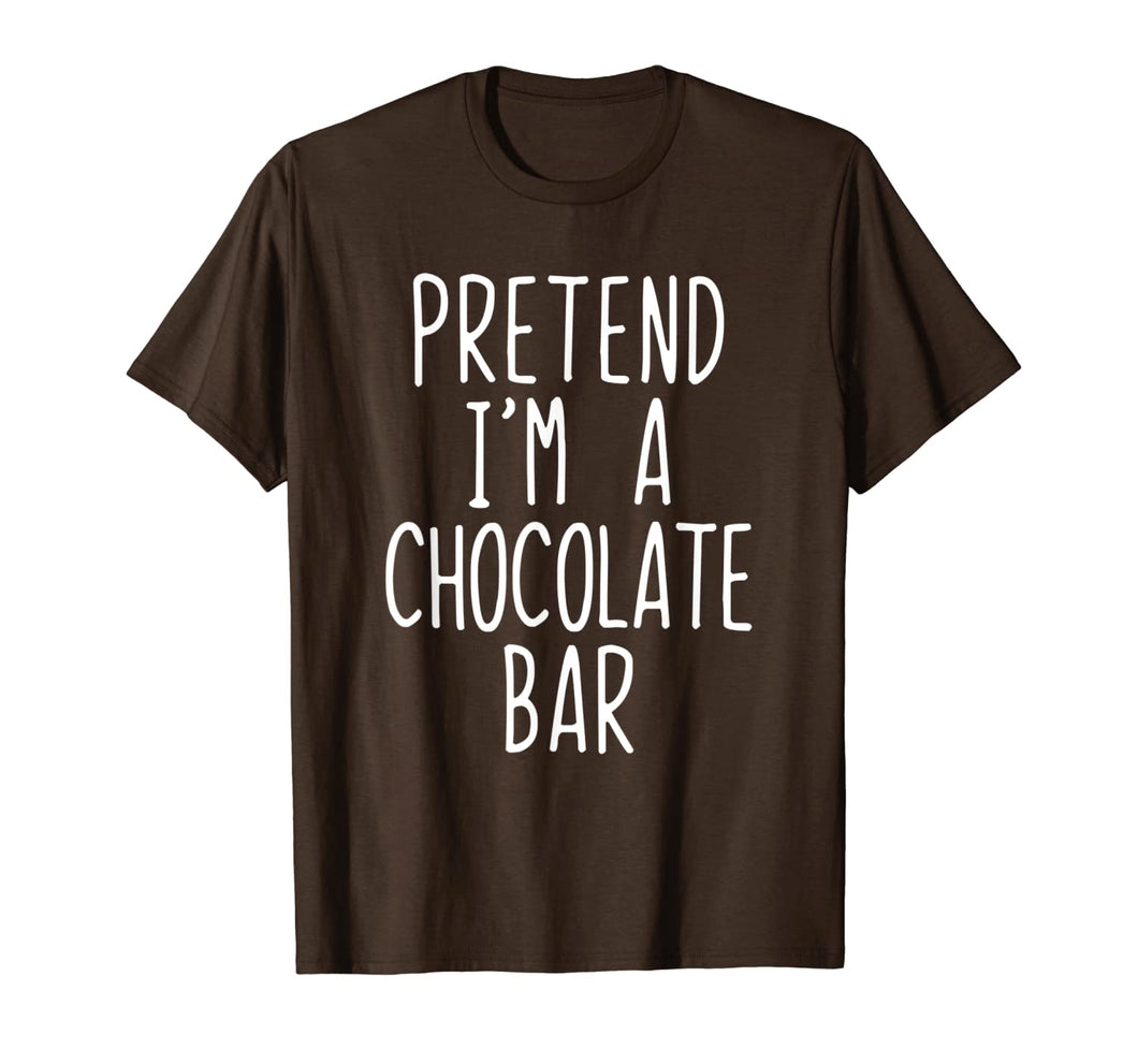 Pretend I'm A Chocolate Bar Costume Halloween Lazy Easy T-Shirt