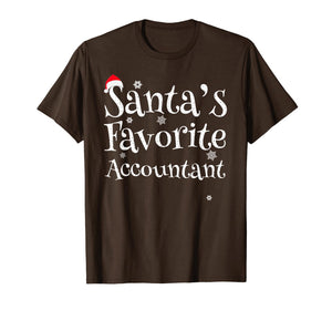 Santa's favorite Accountant T-Shirt