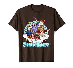 Scare Bears Funny Halloween Scary Horror Pumpkin T-Shirt