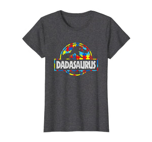 Funny shirts V-neck Tank top Hoodie sweatshirt usa uk au ca gifts for Dadasaurus-Dinosaur T-Rex Proud Autism Dad Shirt Gift 1246753