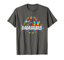 Laden Sie das Bild in den Galerie-Viewer, Funny shirts V-neck Tank top Hoodie sweatshirt usa uk au ca gifts for Dadasaurus-Dinosaur T-Rex Proud Autism Dad Shirt Gift 1246753
