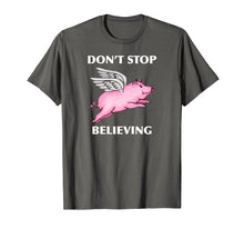 Laden Sie das Bild in den Galerie-Viewer, Funny shirts V-neck Tank top Hoodie sweatshirt usa uk au ca gifts for Don't Stop Believing Flying Pig With Wings Standard T Shirt 2516727