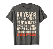 Laden Sie das Bild in den Galerie-Viewer, Funny shirts V-neck Tank top Hoodie sweatshirt usa uk au ca gifts for 60 Years Old 60th Birthday Vintage Retro T Shirt 720 Months 1428598