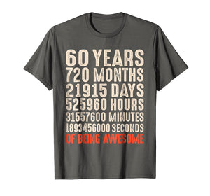 Funny shirts V-neck Tank top Hoodie sweatshirt usa uk au ca gifts for 60 Years Old 60th Birthday Vintage Retro T Shirt 720 Months 1428598