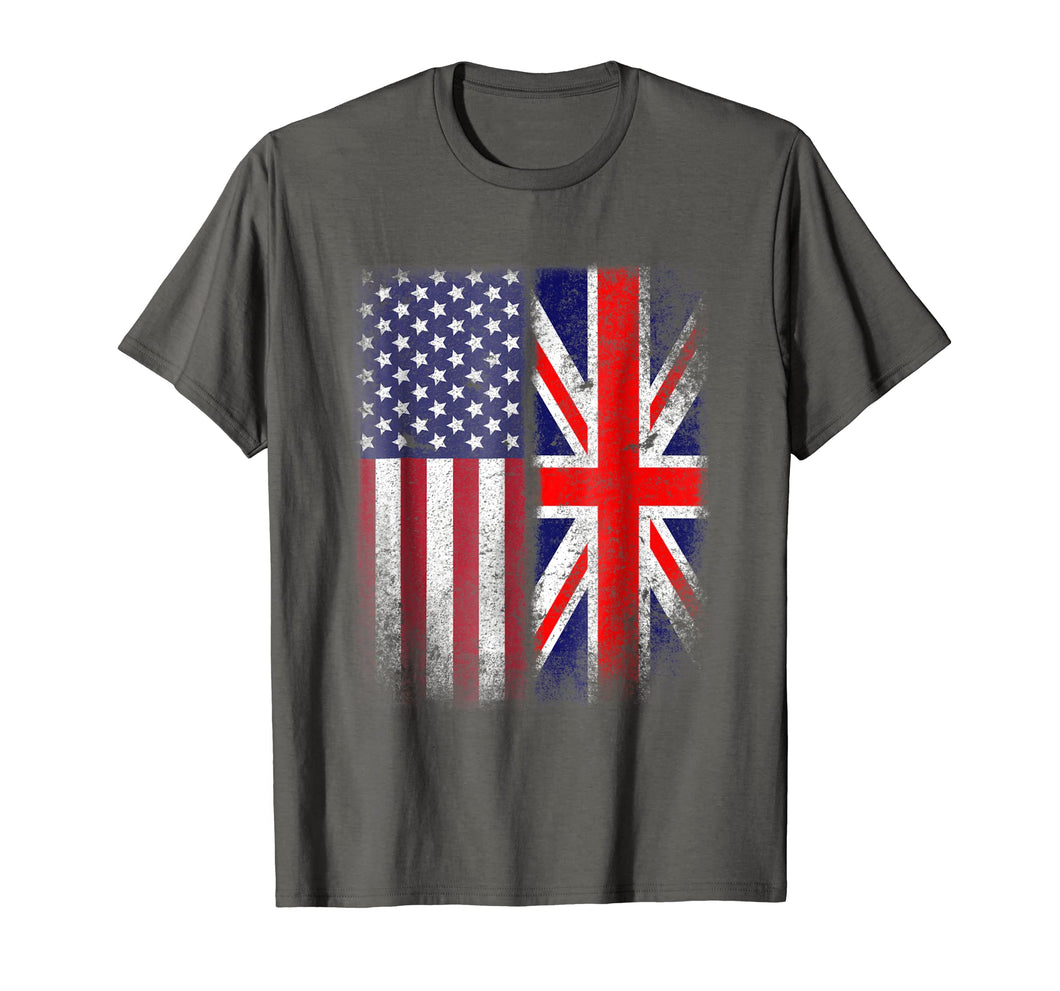 Funny shirts V-neck Tank top Hoodie sweatshirt usa uk au ca gifts for British American Flag T-shirt Great Britain Union Jack Uk 1175143