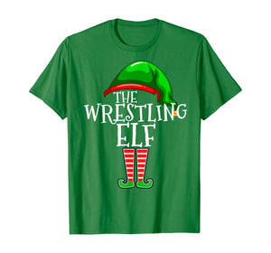 The Wrestling Elf Family Matching Group Christmas Gift Funny T-Shirt