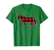 Laden Sie das Bild in den Galerie-Viewer, Red Plaid Horse Christmas Pajamas Tee Pig Christmas Gift T-Shirt