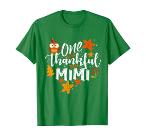One Thankful Mimi Funny Fall Thanksgiving Autumn Womens Gift T-Shirt