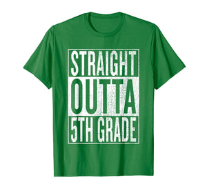 Straight Outta 5th Grade| Great Graduation Gift Shirt
