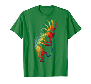 Funny shirts V-neck Tank top Hoodie sweatshirt usa uk au ca gifts for Native American Kokopelli with Ornaments Gradients T-Shirt 2497937