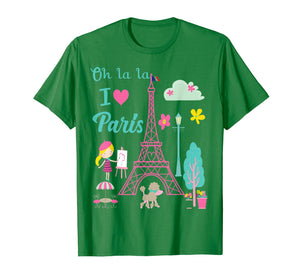 Funny shirts V-neck Tank top Hoodie sweatshirt usa uk au ca gifts for Oh la la  I love Paris Eiffel tower French traditions Shirt  T-Shirt 1192356