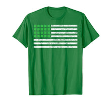 Laden Sie das Bild in den Galerie-Viewer, Funny shirts V-neck Tank top Hoodie sweatshirt usa uk au ca gifts for St Patricks Day Flag Shirt, USA Flag with Irish Shamrock Tee 2033740