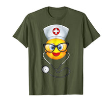 Laden Sie das Bild in den Galerie-Viewer, Nurse Halloween Shirt Funny Emoji Nurse Costume T-Shirt