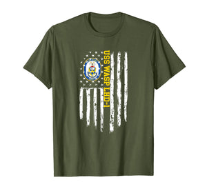 USS Wasp LHD-1 American Flag T-Shirt