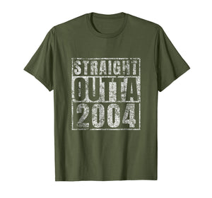 Straight Outta 2004 15 Year Old 15th Birthday Gift T-Shirt