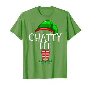 The Chatty Elf Group Matching Family Christmas Gift Funny T-Shirt