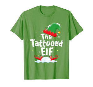 Tattooed Elf Family Matching Group Christmas Gift Tattoo T-Shirt