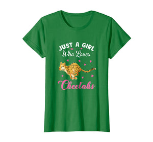 Funny shirts V-neck Tank top Hoodie sweatshirt usa uk au ca gifts for Just A Girl Who Loves Cheetahs T Shirt 1101593
