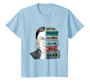 Ruth RBG Supports Never Understimate Power of Girl With Book