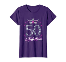 Laden Sie das Bild in den Galerie-Viewer, Womens 50 And Fabulous 1969 50th Birthday Gift T-Shirt