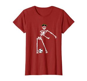 Funny shirts V-neck Tank top Hoodie sweatshirt usa uk au ca gifts for Pirate Skeleton Soccer Halloween Tshirt Flossing Dance Kids 1534625