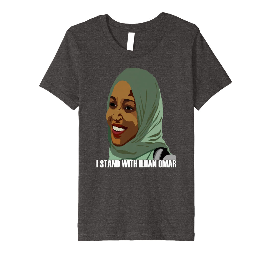 Funny shirts V-neck Tank top Hoodie sweatshirt usa uk au ca gifts for I Stand With Congresswoman Ilhan Omar T Shirt 2265388