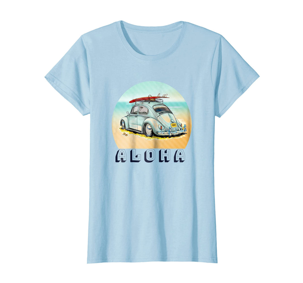 Funny shirts V-neck Tank top Hoodie sweatshirt usa uk au ca gifts for Aloha Retro Surf tshirt - Vintage Car with Surfboard 1376694