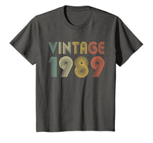 Laden Sie das Bild in den Galerie-Viewer, Retro Vintage 1989 TShirt 30th Birthday Gifts 30 Years Old