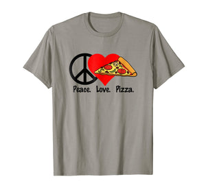 Funny shirts V-neck Tank top Hoodie sweatshirt usa uk au ca gifts for Peace Love Pizza T-Shirt Shirt Tee - Eat Food Party Slice Pi 2170606