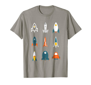 Types of Space Rockets Astronaut Gift Shirt for Kids, Boys
