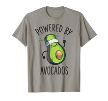 Laden Sie das Bild in den Galerie-Viewer, Vegan Avocado Shirt Powered By Avocados Gym Women Girls T-Shirt