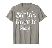 Laden Sie das Bild in den Galerie-Viewer, Santa's Favorite Teacher Job Xmas gifts T-Shirt