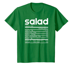 Salad Nutrition Facts Funny Thanksgiving Christmas Costume T-Shirt