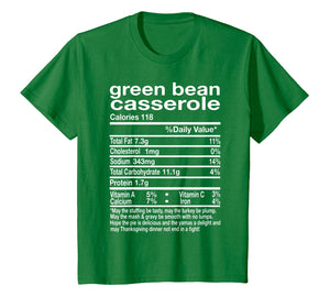 Thanksgiving Green Bean Casserole Nutritional Facts Gift T-Shirt