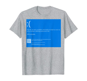 The Scariest Halloween Costume Blue Screen Of Death Lazy Tee T-Shirt