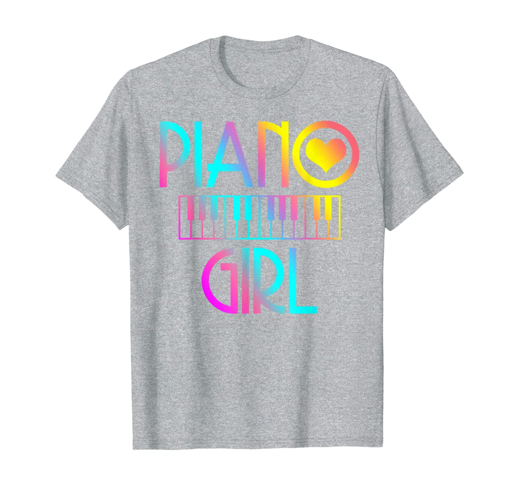 Piano Girl T Shirt Musical Tshirt Pianist Keyboard Cute Tee