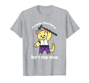 Funny shirts V-neck Tank top Hoodie sweatshirt usa uk au ca gifts for Freddie Purrcury Shirt Don't Stop Meow T-Shirt Funny Cat 2322860