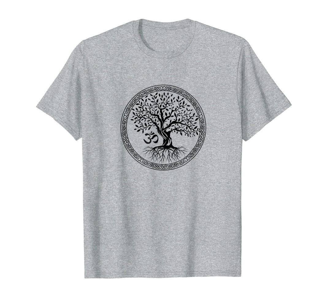 Tree Of Life Om Aum Symbol Yoga Spirituality T-Shirt