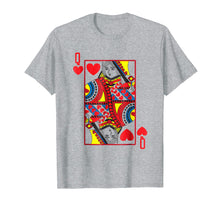 Laden Sie das Bild in den Galerie-Viewer, Funny shirts V-neck Tank top Hoodie sweatshirt usa uk au ca gifts for Halloween Playing Card Costume QUEEN OF HEARTS shirt 1668588