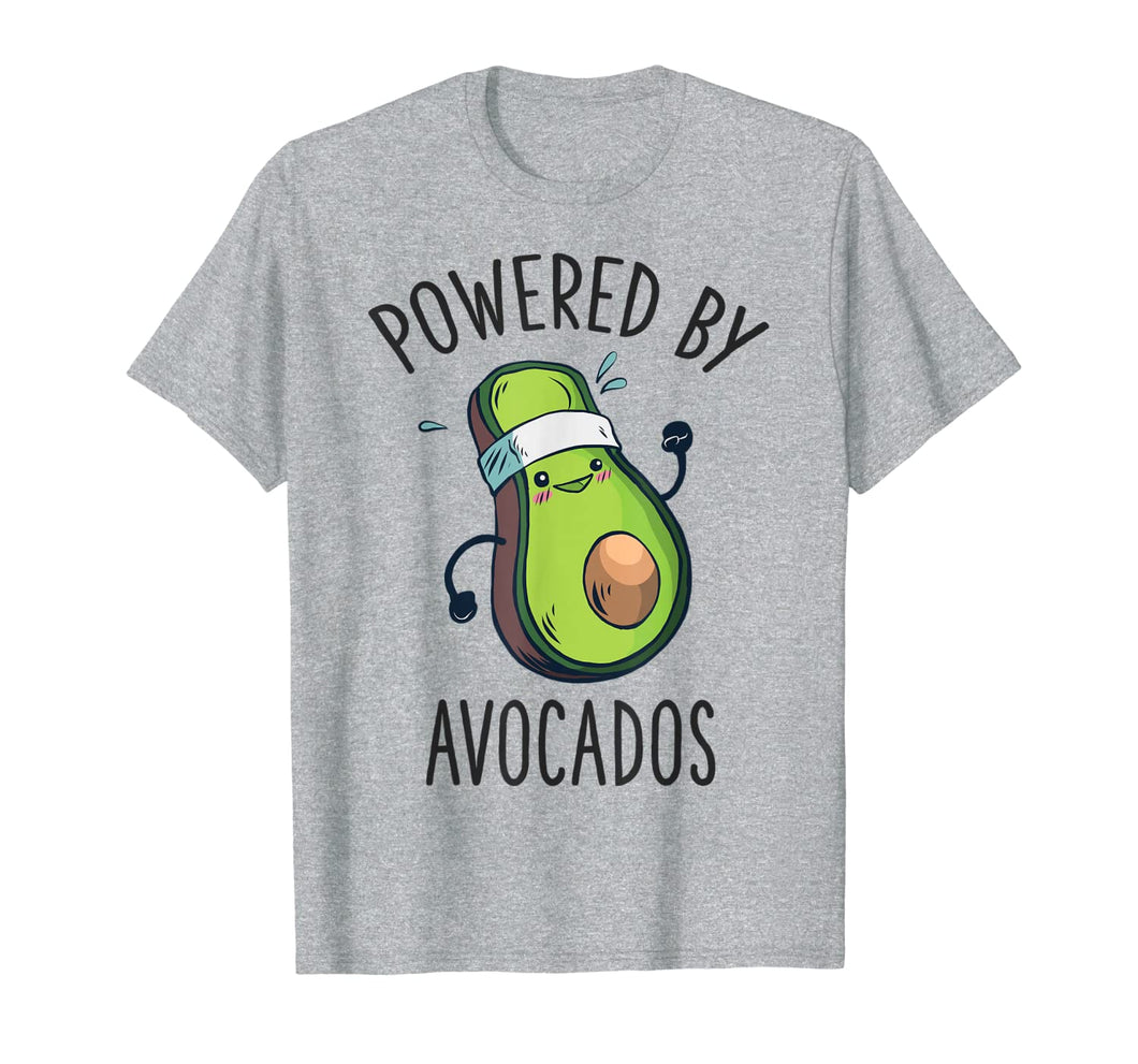Vegan Avocado Shirt Powered By Avocados Gym Women Girls T-Shirt