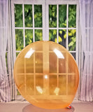 "2 x Belbal B350 ∅ 36""/ 90cm Luftballons * Crystal Soap Orange *"