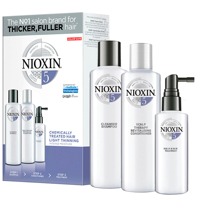 NIOXIN 3-Part System Trial Kit 5 for Chemically Treated Hair with Light Thinning
