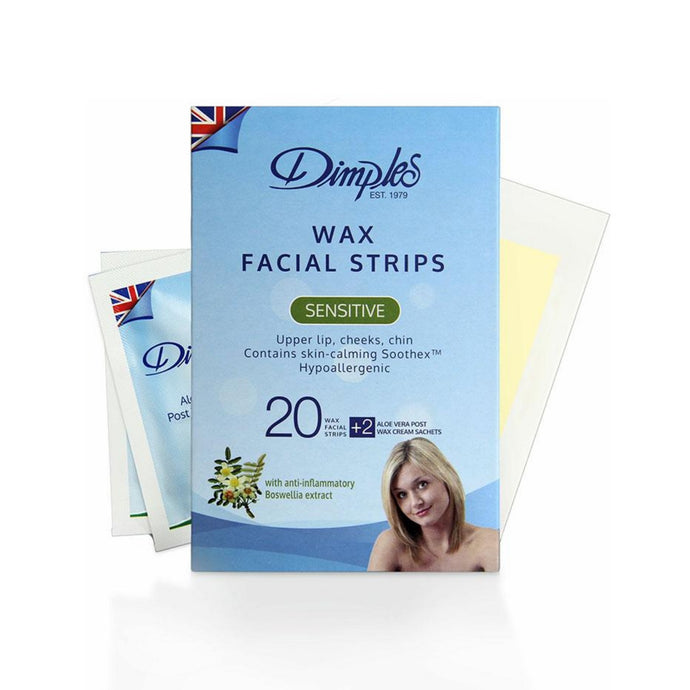 Dimples Wax Body Strips Soothing Skin - 20 Strips