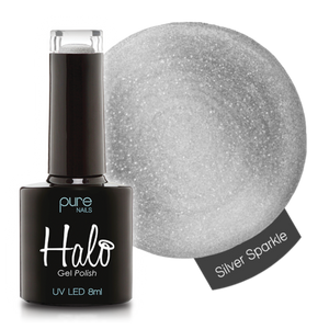 Halo Gel Nail Polish - 8ml Silver Sparkle